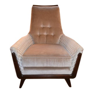 Vintage Mid Century Adrian Pearsall High Back Lounge Chair For Sale