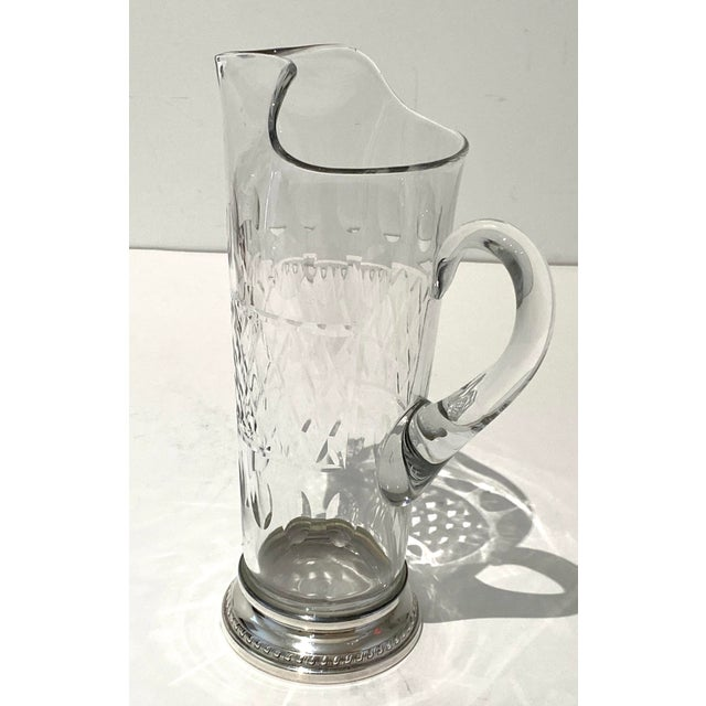 Vintage Glass and Sterling Pitcher For Sale - Image 9 of 10