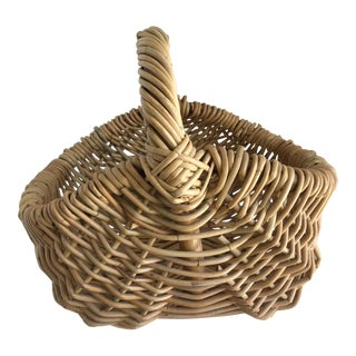 Natural Wood Woven Decor Basket