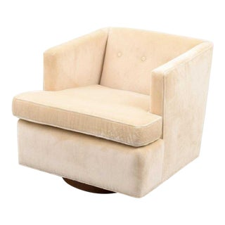 Vintage Mid Century Edward Wormley Swivel Lounge Chair For Sale