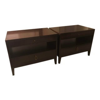 Barbara Barry Realized by Henredon Nightingale Bedside Tables - A Pair For Sale