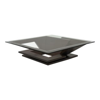 Nautilus Square Coffee Table, Wenge For Sale