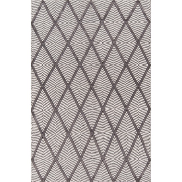 "Textile Erin Gates by Momeni Langdon Spring Charcoal Hand Woven Wool Area Rug - 90"" x 114"" For Sale - Image 7 of 7"