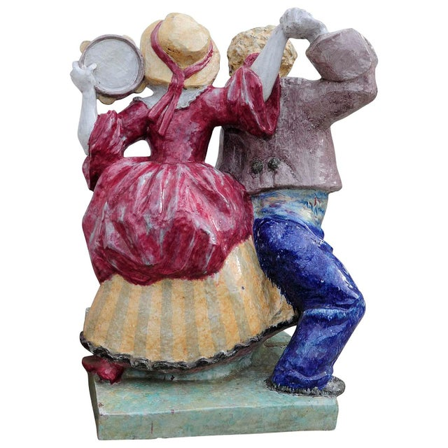 Nymphenburg Porcelain Sculpture Dancing Couple By Josef Wackerle For Sale - Image 9 of 11