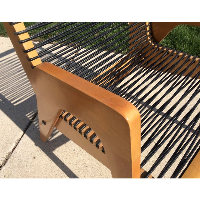Black Vintage Robert Kayton Cord Chair For Sale - Image 8 of 9