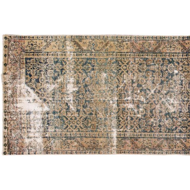 "Apadana-Antique Persian Distressed Rug, 3'0"" X 11'7"" For Sale - Image 4 of 10"