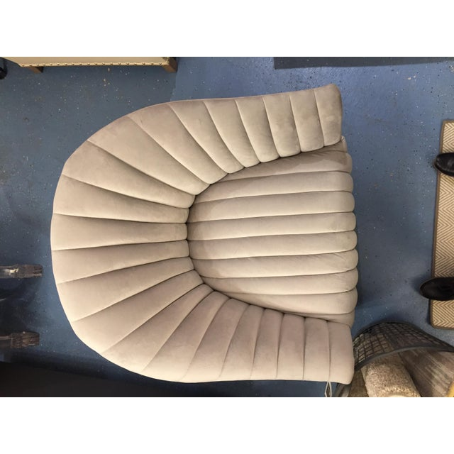 Weiman Weiman Velvet Swivel Chair For Sale - Image 4 of 5