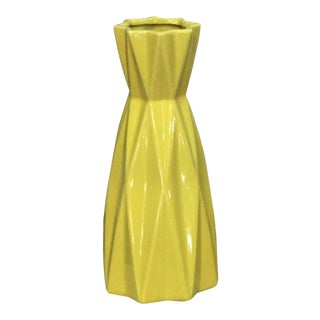 Contemporary Yellow Vase