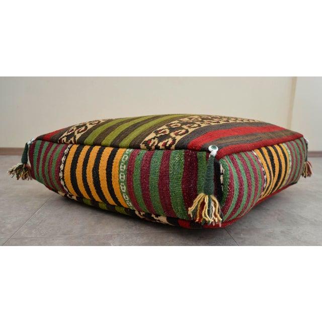 Turkish Hand Woven Floor Cushion Cover Sitting Pillow - 27″ X 27 ...