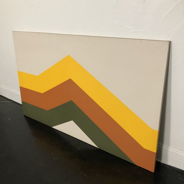 1970s Tri Stripe Original Paintings by Artifax - A Pair For Sale - Image 10 of 12