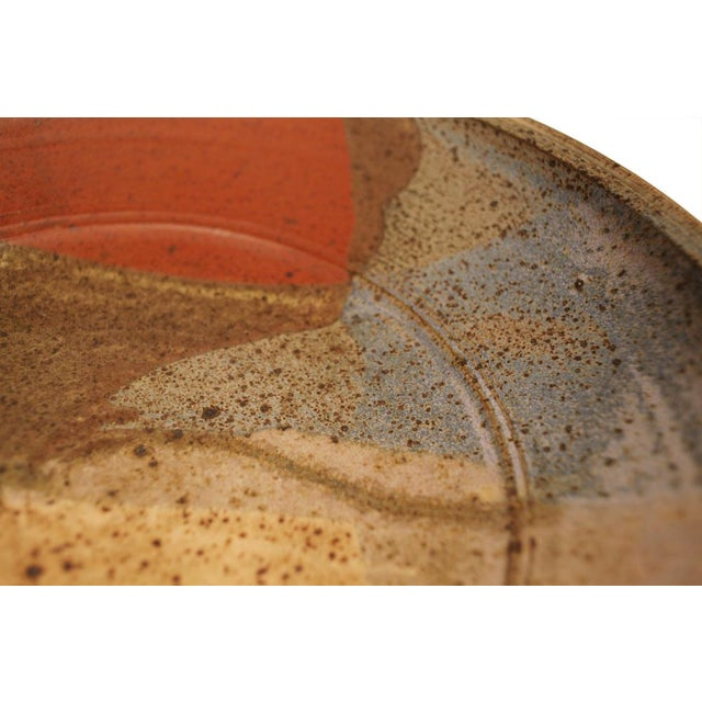 Abstract Glazed Stoneware Charger For Sale - Image 4 of 9
