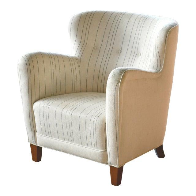 Fritz Hansen Attributed Model 1669 Style Easy Chair, Denmark, 1940s For Sale