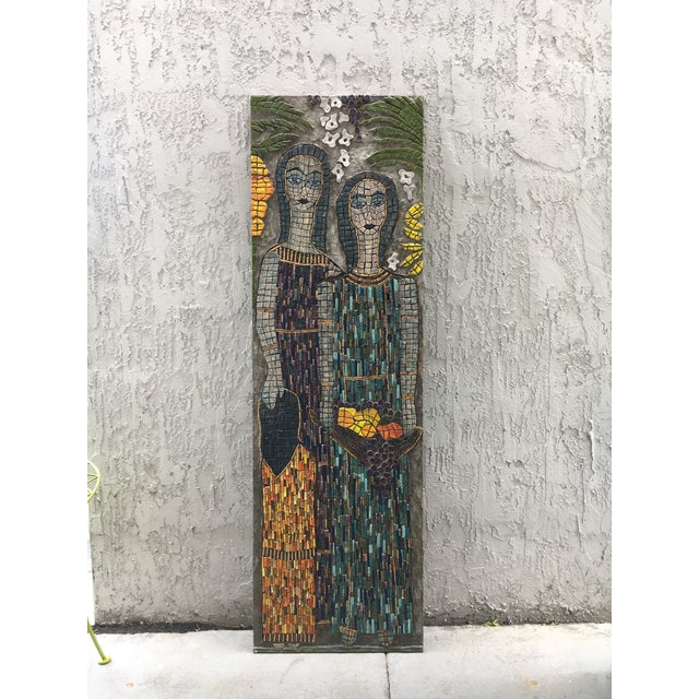 Blue Figurative Mosaic Wall Piece For Sale - Image 8 of 8