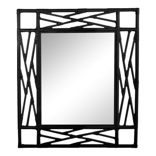 Chippendale Mirror - Black For Sale
