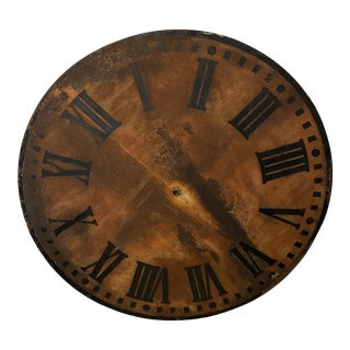 Patinated French Antique Clockface For Sale