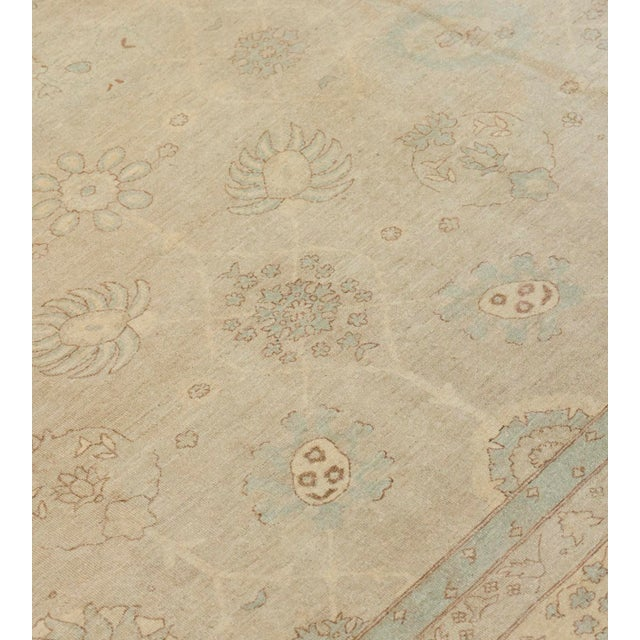 Handwoven Tabriz Style Wool Revival Rug For Sale In Los Angeles - Image 6 of 8