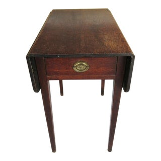 18th C English Oak Dropleaf Pembrooke Farmhouse Side Table For Sale