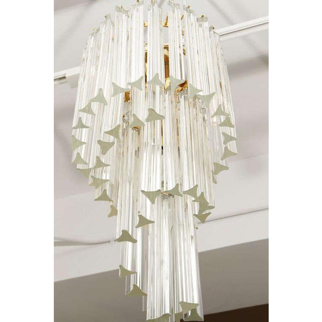 Glass Murano Glass Foyer Chandelier For Sale - Image 7 of 9