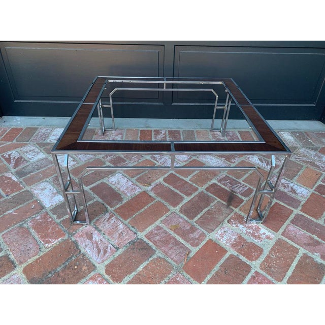1950s 1950s Vintage Milo Baughman Square Coffee Table For Sale - Image 5 of 5
