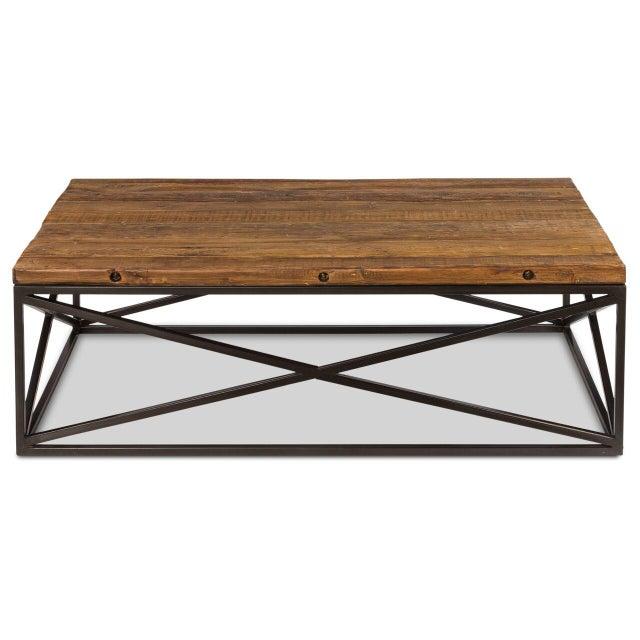 Brown Sarreid Ltd Dockworker Board Coffee Table For Sale - Image 8 of 9