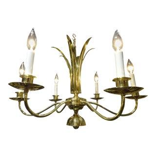 Parzinger Style Brass Chandeleir