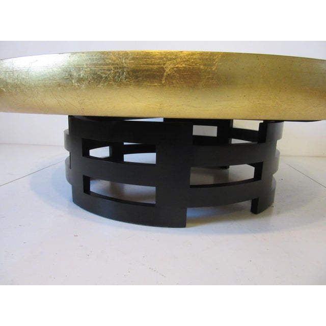 Mid 20th Century Kittinger Asian Regency Styled Lotus Coffee Table For Sale - Image 5 of 9