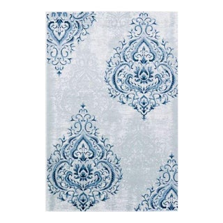 DAMASK TONAL BLUE RUG 5'3''x 7'7''