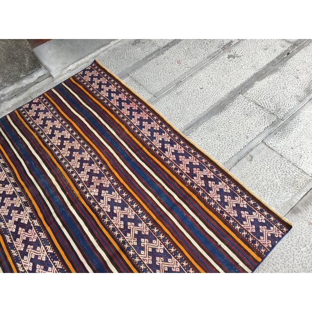 Islamic 1980s Turkish Anatolian Handmade Cecim Kilim Rug For Sale - Image 3 of 8