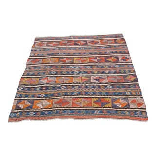 Vintage Turkish Kilim Rug - 4′11″ × 5′5″