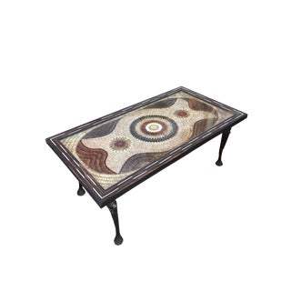 Unique Mosaic Butterfly Coffee Table With Elephant Legs For Sale