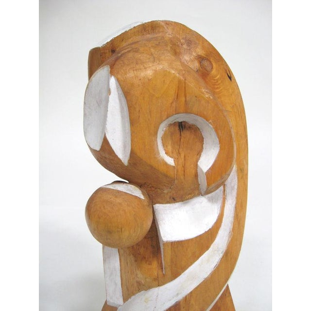 Pine Abstract wood sculpture by Arthur Rossfield For Sale - Image 7 of 11