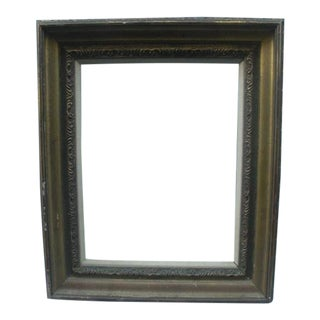 Vintage Mid 20th Century Gold Painted Wood Frame For Sale