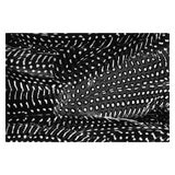 "Image of Contemporary ""Plumes No. 2"" Black and White Abstract Feather Print - 20"" X 30"" For Sale"