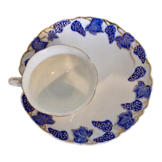 Vintage Lefton Tea Cup & Snack Plate Set For Sale