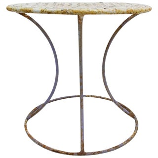 Wrought Iron Side Table Attributed to Woodard For Sale