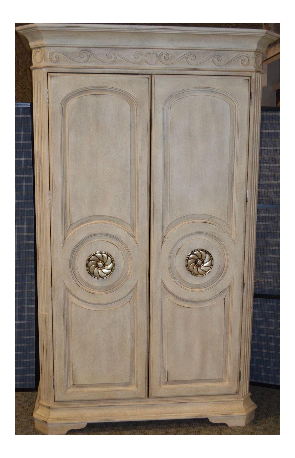 Large Bernhardt Neo Classic Style 2 Door Armoire