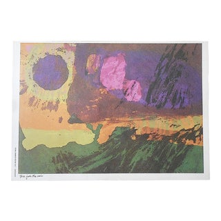 """Vintage Abstract Lithograph-Sister Mary Corita Kent - """"Treasure Hidden in a Field"""" For Sale"""