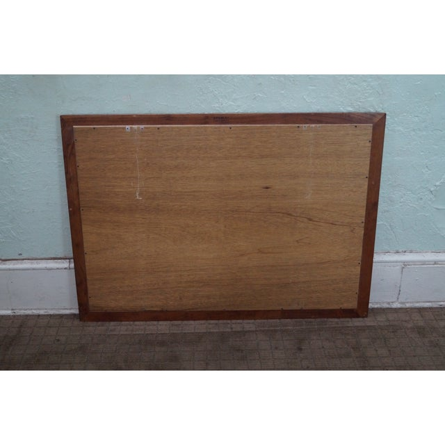 Stickley Stickley Solid Cherry Frame Rectangular Mirror For Sale - Image 4 of 10