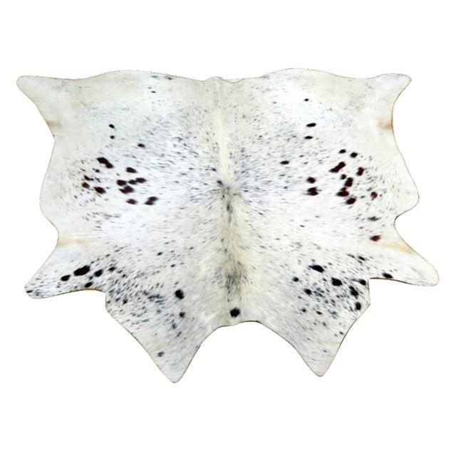 Cow Hide Rug - 4′2″ × 4′5″ - Image 1 of 4