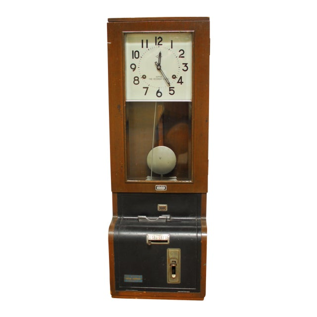 Nippon Time Recorder Punch Clock For Sale
