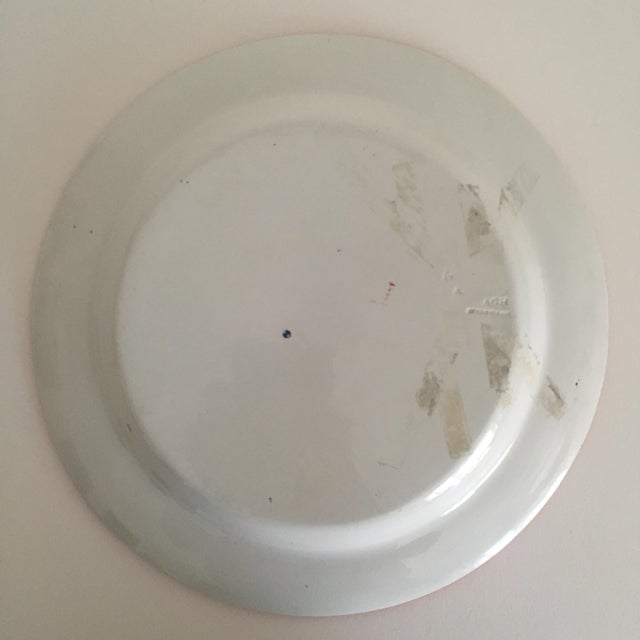 Antique Wedgwood Transferware Neoclassical Floral Ceramic Plate For Sale - Image 10 of 11