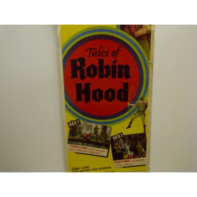 "Vintage ""Tales of Robin Hood"" 1951 Movie Poster For Sale - Image 4 of 6"