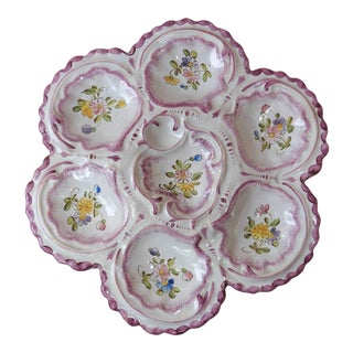 French Faience Oyster Plate Alfred Renoleau Angouleme For Sale
