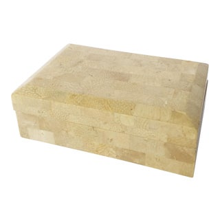 VTG Tessellated Stone/Marble Box For Sale
