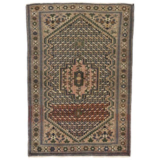 20th Century Arts & Craft Persian Bakhtiari Rug - 4′3″ × 6′3″ For Sale