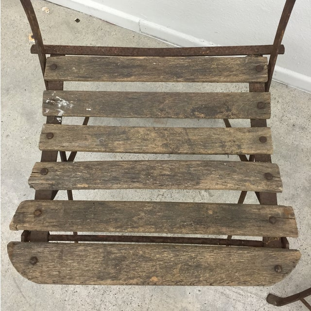 Vintage French Garden Chairs - Pair For Sale - Image 5 of 7