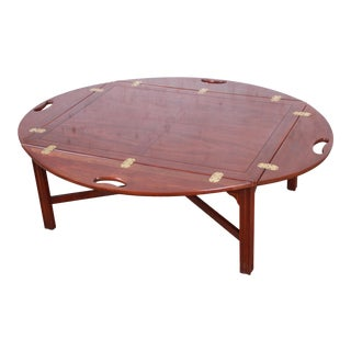 Baker Furniture Chippendale Mahogany Butler's Coffee Table For Sale