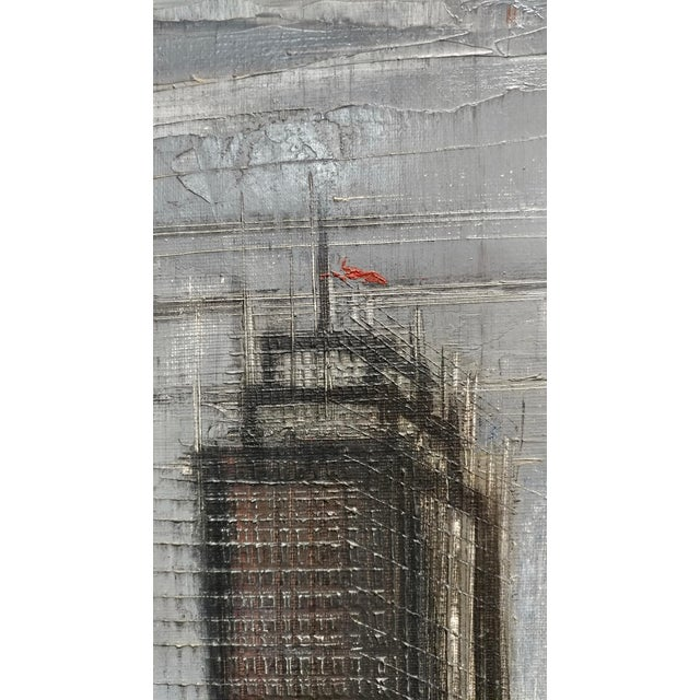 Regis De Cachard - New York Skyline 1961 -Oil Painting For Sale In Los Angeles - Image 6 of 10