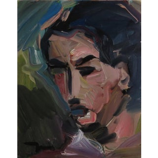 Contemporary Abstract Face Portrait Oil Painting by Jose Trujillo For Sale