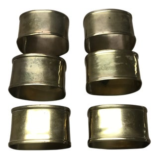 1980s Brass Napkin Rings - Set of 6 For Sale